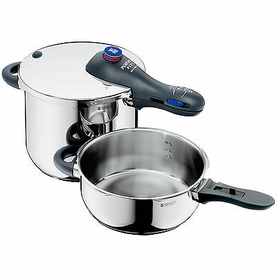 WMF Perfect Plus 3-pc Pressure Cooker Set 18/10 Stainless Steel 6.5 Qt + 3 Qt
