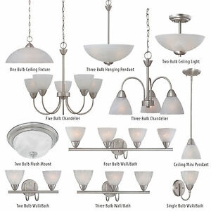 Satin Nickel Bathroom Vanity Ceiling Lights Wall Chandelier