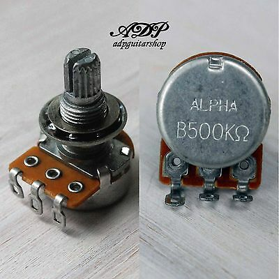 POTENTIOMETRE MINI 500 Ko B-LINEAIRE axe fendu 6mm diametre 16,5mm made in Japan