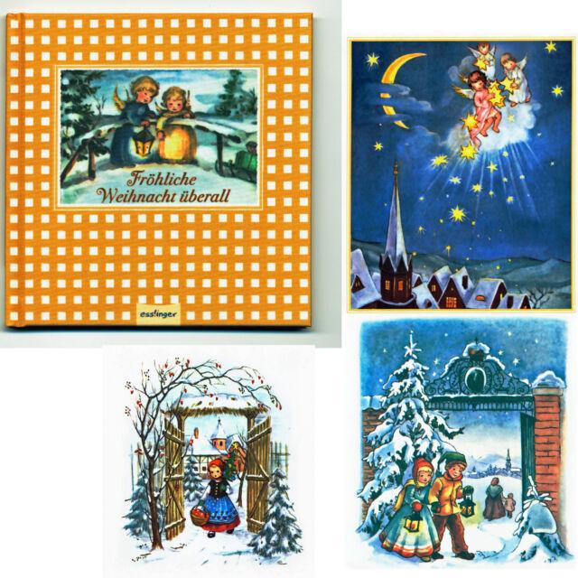 Fröhliche Weihnacht überall! Buch Nostalgische Postkartenmotive Lieder  Gedichte
