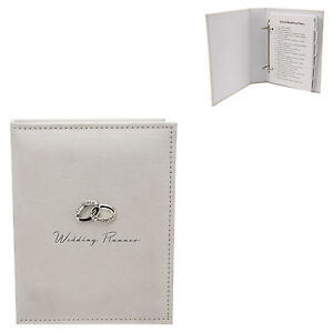 Wedding-Planner-Book-Cream-Suedette-Finish-Engagement-gift-idea-NEW-18269