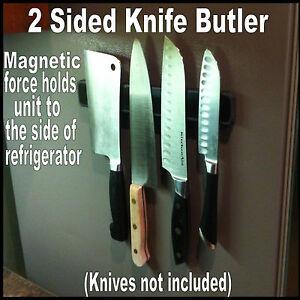 KNIFE-BUTLER-FRIDGE-2-Sided-All-Rubber-Magnetic-Knife-Rack-For-Side-of-Fridge