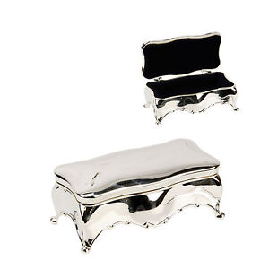 Silver plated oblong large  trinket box three sizes available  FREE ENGRAVING