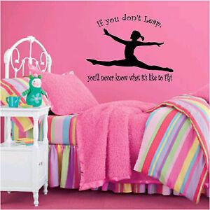 gymnastics leap amp fly with split leap wall decal ebay gymnastics wall decals amp wall stickers zazzle