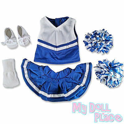 Doll clothes fit American Girl * Royal Blue Cheerleader Set + Sneakers + Socks * on Rummage