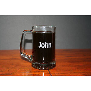 Custom Engraved 15 oz Beer Mug Personalized Birthday / Wedding Groomsman Gift