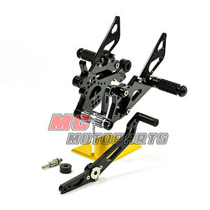 Adjustable Rearsets Rear Sets Yamaha YZF R6 2006-2010