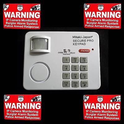 KEYPAD SECURITY SYSTEM HOME+MOTION SENSOR ALARM+DOOR BELL+WINDOW STICKERS