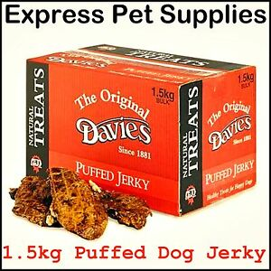 1.5kg **BULK DEAL** Davies Puffed Jerky Dog Treats & Chews Reward