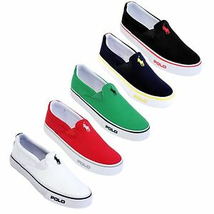 polo by ralph 039 s cantor slip on canvas shoes