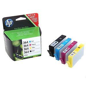 hp364 original 4 pack ink cartridges for hp 364 3070 5510 6510 cn245b sd534ee ebay. Black Bedroom Furniture Sets. Home Design Ideas