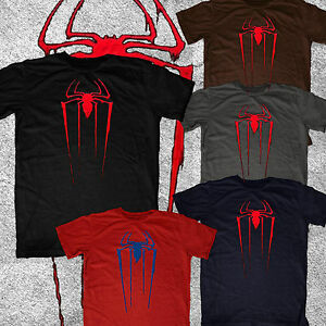 Amazing-Spiderman-Spider-Man-new-logo-Marvel-vintage-look-feel-tee-tshirt