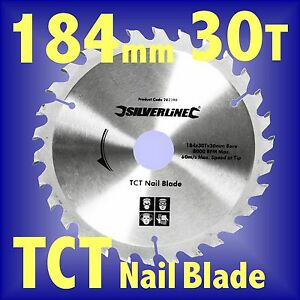 184mm TCT DEMOLITION NAIL CIRCULAR SAW BLADE mitre rip