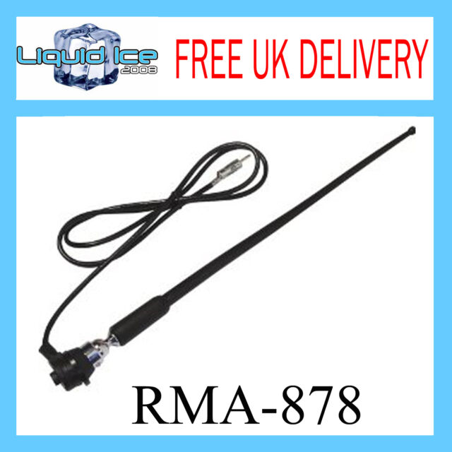 RMA878 KIA LAND ROVER ROOF OR WING MOUNT REPLACEMENT RUBBER AERIAL ANTENNA MAST