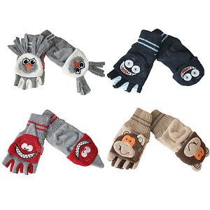 Childrens-Fleece-Monster-Animal-Gloves-Kids-Warm-Winter-Mittens-for-Boys-Girls