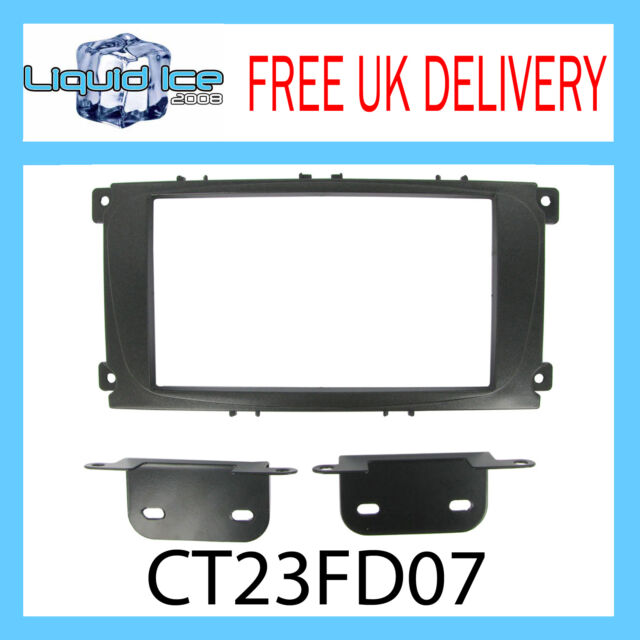 CT23FD07 FORD FOCUS 2007 ONWARDS BLACK DOUBLE DIN FASCIA FACIA ADAPTOR KIT