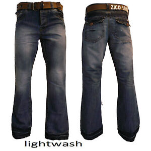 MENS ZICO CLASSIC BOOT CUT FIT JEANS LIGHTWASH DARKWASH SIZE 30 32 34 36 38 40