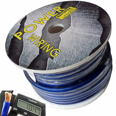4 Gauge Super Flexible Wire 95 Ft Blue Roll Spool Feet Awg Hyperflex 95 Feet Usa