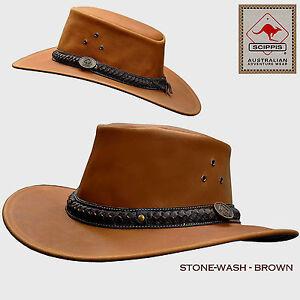 Australien Exterieur Chapeau En Cuir Style De Cowboy Western Chevalier