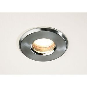 low voltage 12v bathroom shower halogen recessed down light ip65 brushed chrome ebay