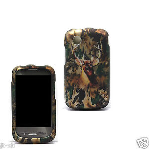 Deer Rubber Feel Hard Case For Straight Talk ZTE Merit 990G/Avail Phone