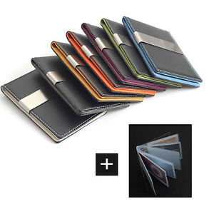 MATTE-Money-Clip-Wallet-7-Color-Faux-Lather-Card-Holder-FREE-Laser-Engraving