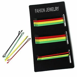 Rasta-Color-Hair-Pins-Big-Up-Jamaica-Reggae-Africa-Empress-Bob-Roots-Hairpin-NEW