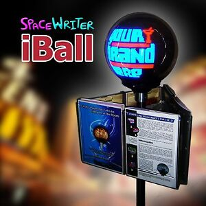 Iball brochure flyer stand 3d digital led signage spinning for Decor 9 iball