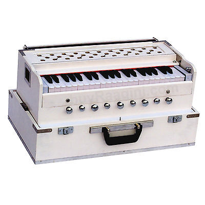 Harmonium No.5800wh/folding/maharaja™/a440/white Color/coupler/9stop/book/ahg 1