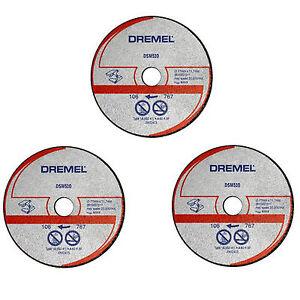 Dremel 3 x DSM510 METAL PLASTIQUE Roue de Coupe Disque lame pour DSM20