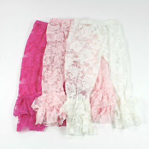 Ruffle Bottom Lace Leggings Girls Girlu0026#39;s Infants Baby Babies Leg Warmers Tights | eBay