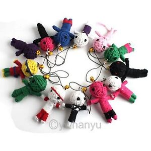 12pcs Mixed Lots Voodoo Doll COLLECTIBLE CHARM FIGURES Cell phone Strap 260040