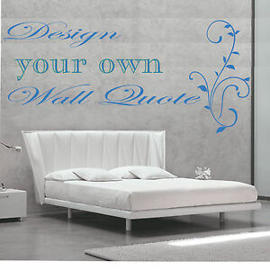 wall stickers quotes make your own ebay. Black Bedroom Furniture Sets. Home Design Ideas