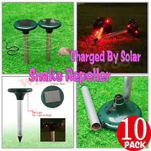 10 Pack Solar Power Multi Pulse Snake Pest Repeller keep snakes out of Garden AU