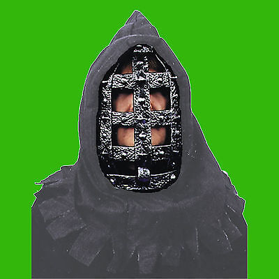 Medieval Gothic-HOODED EXECUTIONER IRON MASK-Steampunk Cosplay Costume Accessory