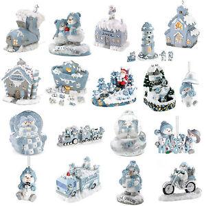 Snowbuddies-Snowville-Snowman-Figurines-Christmas-Building-Ornaments-Powder-Blue