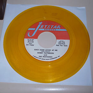 NORTHERN-SOUL-45RPM-RECORD-BOBBY-PATTERSON-amp-THE-MUSTANGS-JETSTAR-110-PROMO