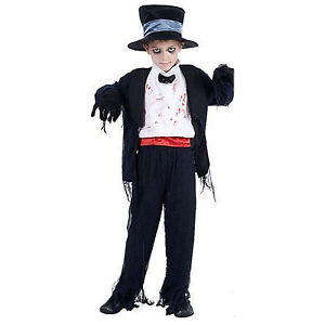 Kids Childrens Boys Girls Fancy Dress Costume Horror Halloween Scary Zombie