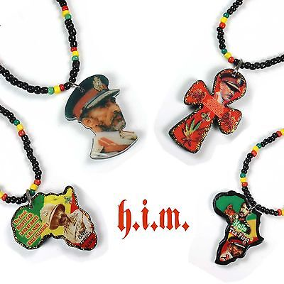 Selassie Rastafari Rasta One Love Marley Africa Lion Jah Rastafari Necklace 22