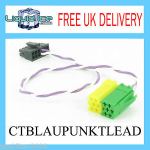 CTBLAUPUNKTLEAD-STALK-ADAPTOR-PATCH-LEAD-STEREO-STEERING-WHELL-VOLUME-CONTROLS