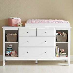 brand new baby change table changer 4 chest of drawers free change pad ebay. Black Bedroom Furniture Sets. Home Design Ideas