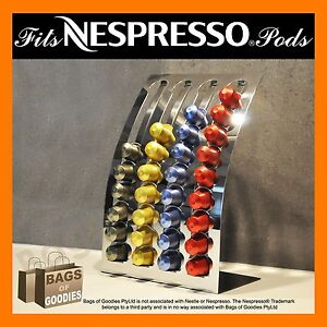 NEW Nespresso® Coffee Capsules Pod Holder Stand/Dispenser Stainless Steel BNIB