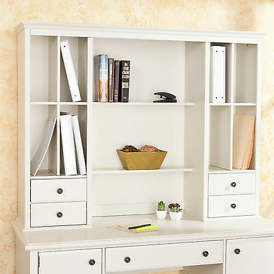 barrington off white office desk hutch os9072 ebay. Black Bedroom Furniture Sets. Home Design Ideas
