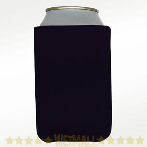 100 Black Can Koozie Blank Beer coolers Party Wedding