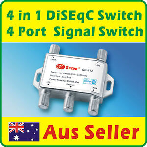 4 in 1 DiSEqC Switch 4 Port Satellite Signal Switch Multiswitches