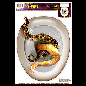 Gothic-Halloween-Prop-SNAKE-TOILET-TOPPER-Tattoo-Cling-Decal-Bathroom-Decoration