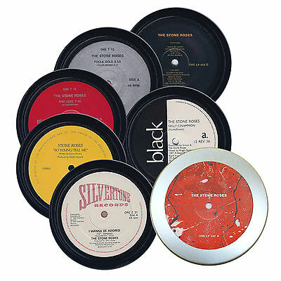 STONE ROSES. 6 coasters in a tin. So Young, Sally Cinnamon, Fools Gold, One Love
