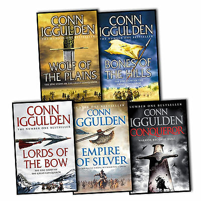 Conn Iggulden Conqueror 5 Books Collection Set Wolf Of The Plains  Khan Dynasty