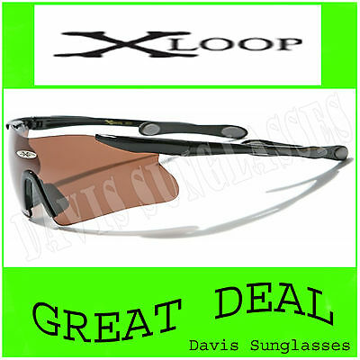 Men's X Loop Sunglasses Xl13009 Uv400 Davis F6 Sports Wrap Cycling Biking Golf
