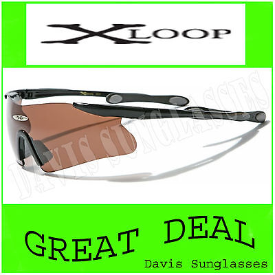 Men's X Loop Sunglasses Xl13009 Uv400 Davis G7 Sports Wrap Cycling Biking Golf